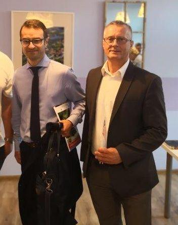 Andrzej Leyk i europoseł Tomasz Poręba