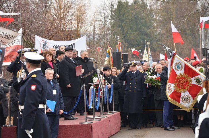 Andrzej Leyk_- uroczystości patriotyczne Gołubie