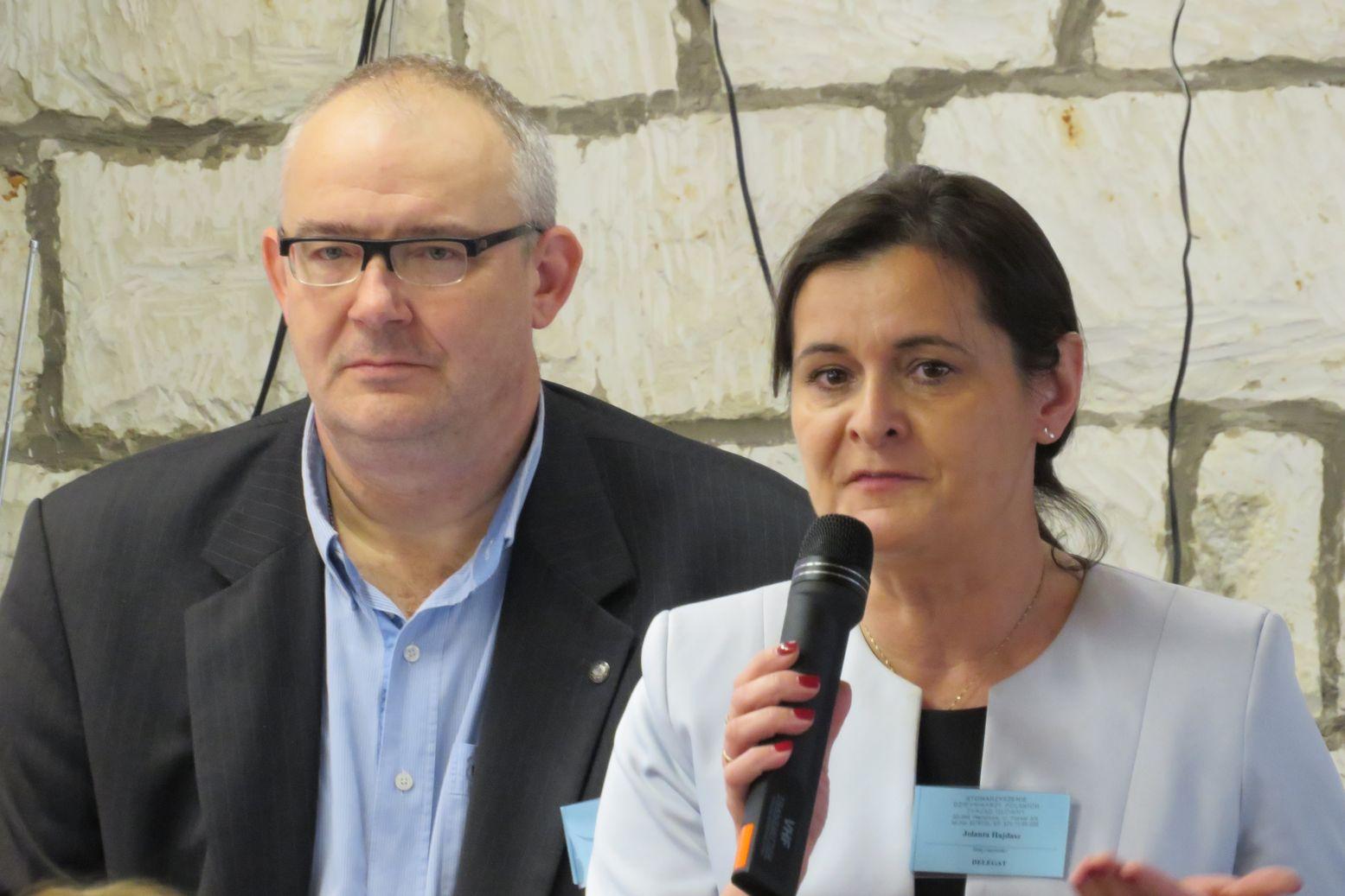 Pilis z Krakowa i Jolanta Hajdasz z Poznania
