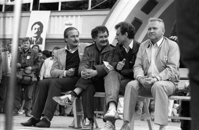 nowak lecz_kaczynski sopot  podczas kampanii wyborczej w 1989 Fot _Leszek Pekalski x892729