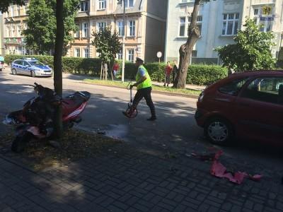 WEJHEROWO - Wypadek na ul. Sobieskiego w Wejherowie  2