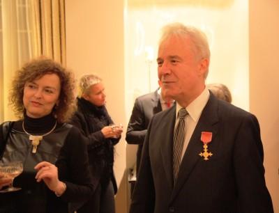 Order Imperium Brytyjskiego dla Jerzego Limona_Prof Jerz y Limon z małżonką_fot. Robert Dąbrowski
