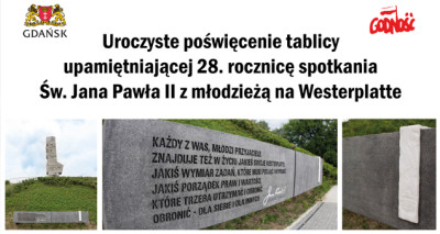 westerplatte tablica Jana Pawła II
