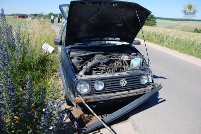 STAROGARD GDAŃSKI - ZGINĄŁ 50-LETNI MOTOCYKLISTA.rozbity volkswagen