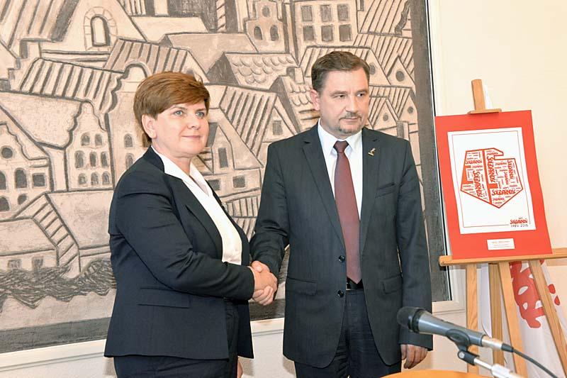 Beata Szydło i Piotr Duda