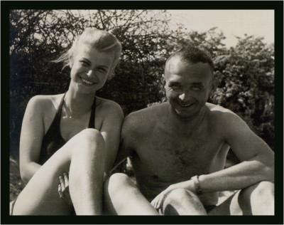 str.18 Rosvitha i Henry na plaży- w Orłowie sierpien 1940