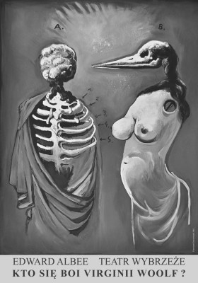 Kto się boi ...plakat autorstwa  Franciszka Starowieyskiego