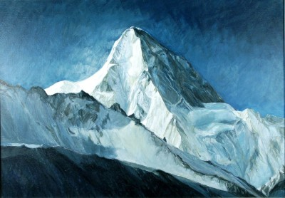 kowalewski m_49. K-2 (Chogori)8611m. Karakorum, Chiny, akryl, płótno, 92x61cm, 2005r.