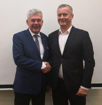 Andrzej Leyk i Marszałek Senatu  Karczewski