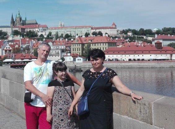 Andrzej Leyk z rodziną