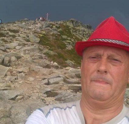 Andrzej Leyk - zapalany turysta