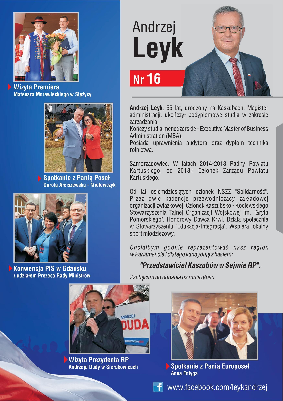 Andrzej Leyk - kandyduje do Sejmu