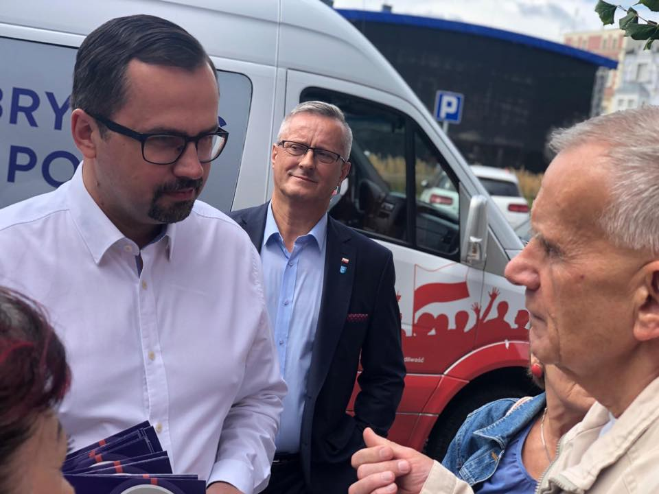 Andrzej Leyk z posłem Marcinem Horałą